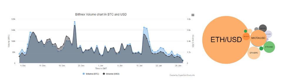 Bitfinex Exchange Information Chart