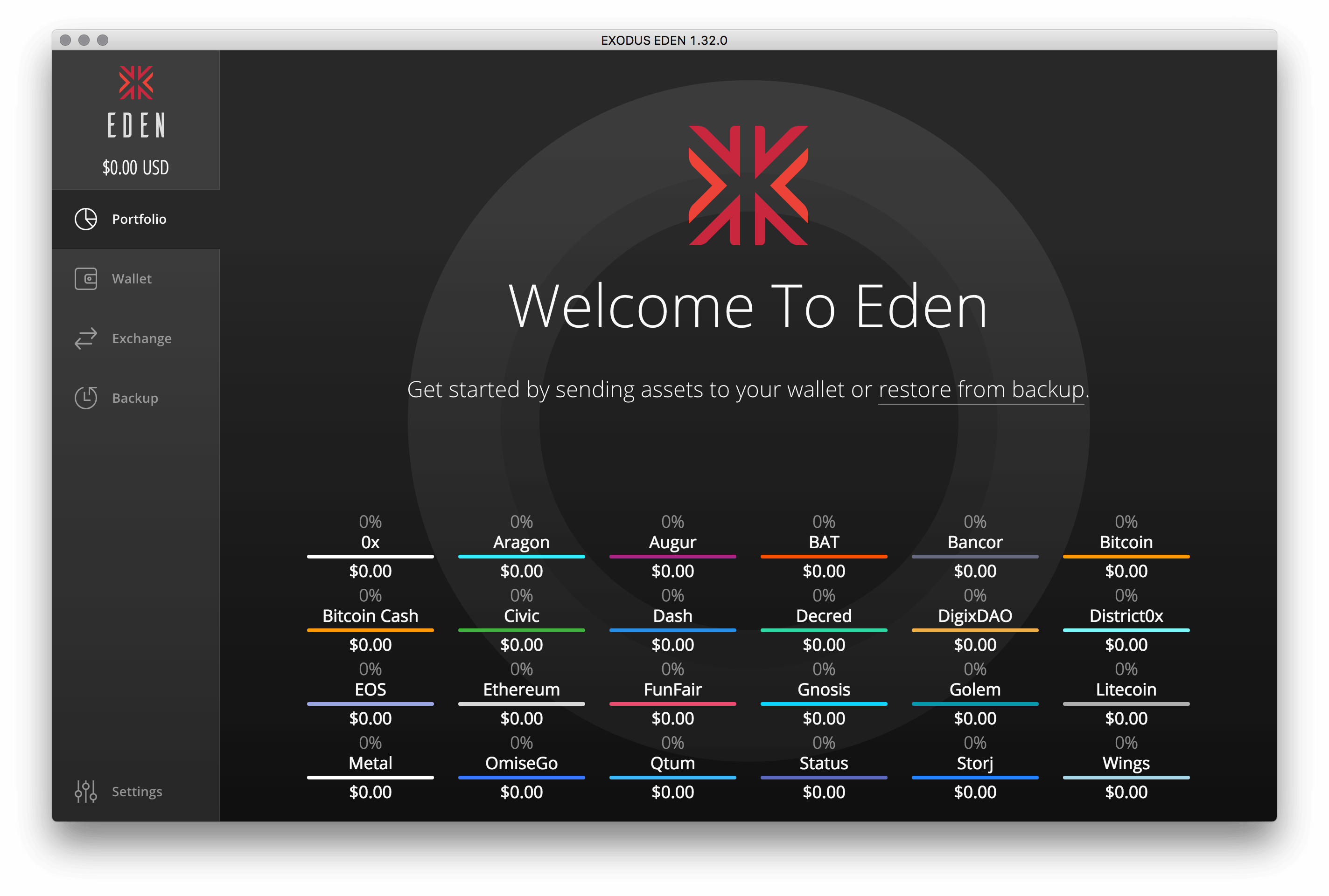 store your alt coins safely using eden