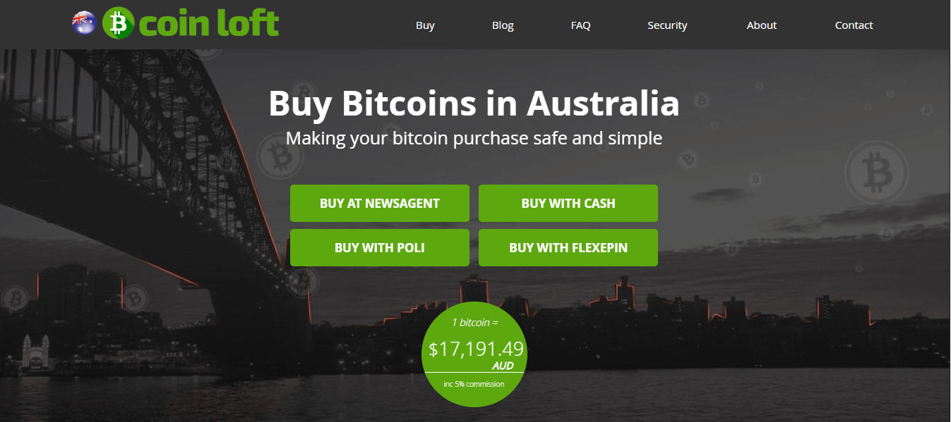 buy bitcoin australia at CoinLoft