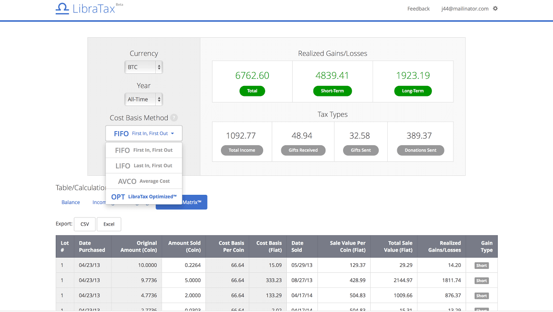 Cryptos Tax Tool Option Libratax