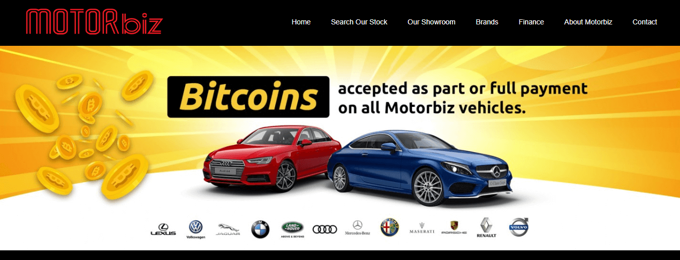 Motorbiz buy vehicles with crypto