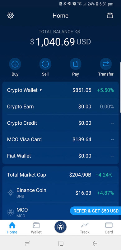 mco card all wallets