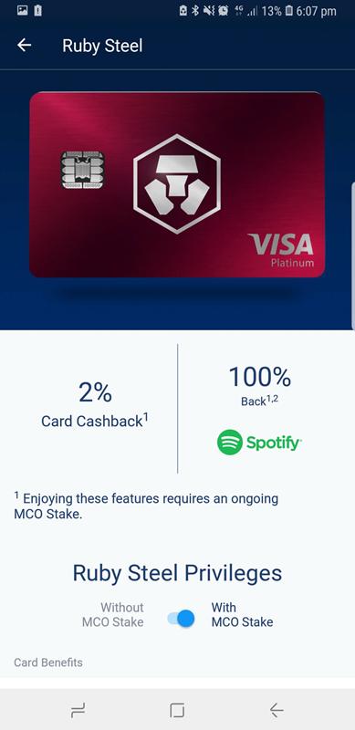 monaco debit card crypto com red benefits