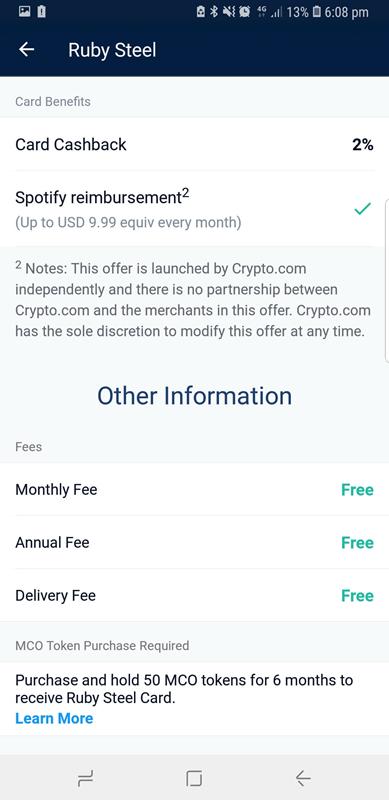 monaco debit card crypto com red benefits 2