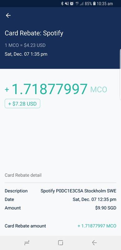 mco card free spotify rebate proof