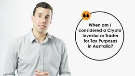 Crypto Investor vs Trader for Tax Purposes in Australia