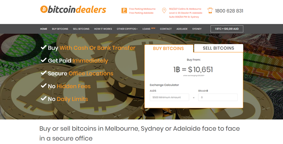 buy bitcoin australia at Bitcoin Dealers
