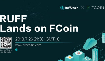 Ruff Is Officially Launching on FCoin, Dedicated to Deep Integration of IoT and Blockchain Technology
