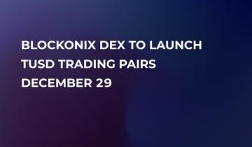 TrueUSD (TUSD) to Be Added by Blockonix Decentralized Exchange on December 29