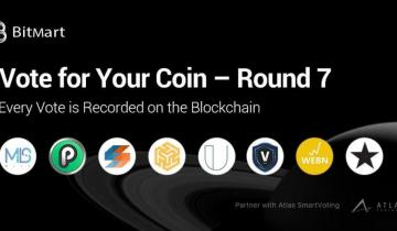 BitMart Vote for Your Coin – Round 7 Vote on the Blockchain with Your First Vote Free!