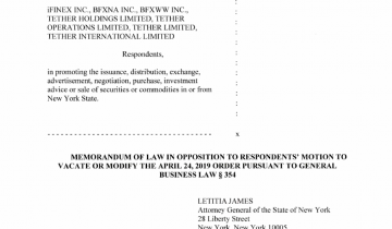 NY Regulators: Bitfinex Must Be Made to Disclose Tether Deal Documents