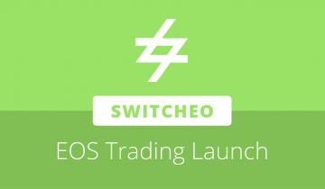 Switcheo to launch EOS blockchain trading functionality