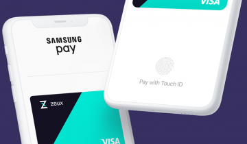 Pay with Crypto with Apple Pay and Samsung Pay with the Zeux App