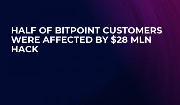 Half of Bitpoint Customers Were Affected by $28 Mln Hack