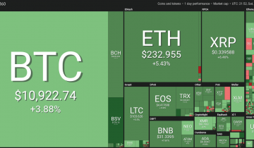 Bitcoin Approaches $11,000 With All Top 20 in Green