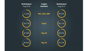 A Different Look at Crypto Market and Top Assets, How Dominated Is It?