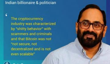 Indian Govt. Will Eventually Join the Crypto Party  Says Indian Billionaire & Politician