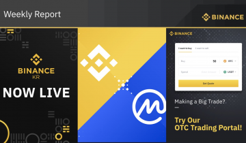Binance Weekly Report: Welcome CoinMarketCap (Also, Welcome to Korea)