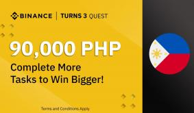 Binance Turns 3 Quest: 90,000 PHP Promo. Complete More Tasks to Win Bigger.