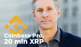 Ripple and Chris Larsen Wire 20 Mln XRP – Binance, Coinbase Pro Are Among Recipients