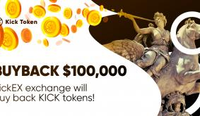 The KickEX exchange will buy back KickTokens at a price of $0.00015 per token