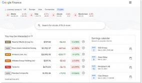 Google Finance adds dedicated crypto tab featuring Bitcoin, Ether, Litecoin