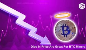 Dips In Price Are Great For BTC Miners