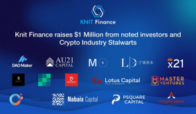 With $1M Worth of Funding, KnitFinance Charges Ahead to Unlock Trillion Dollar Market in DeFi