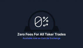 Announcing 0% taker fees on CoinJar Exchange