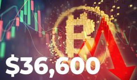 Bitcoin Drops to $36,570 As Bank of Japan Governor Joins Central Bankers on Criticizing BTC