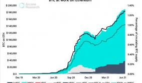 Nearly 1% Of Bitcoin Supply Is Now Wrapped In Ethereum