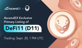 DeFi11 Lists on AscendEX
