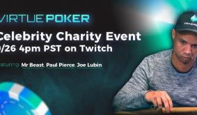 Paul Pierce, Phil Ivey, Mr. Beast and Joe Lubin Tonight In Virtue Pokers Awaited Celebrity Charity Poker Tournament