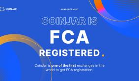 CoinJar is one of the first exchanges in the world to get FCA registration