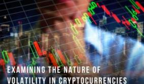 Examining the nature of Volatility in Cryptocurrencies